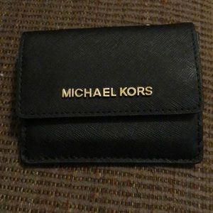 Michael Kor Black Small Wallet